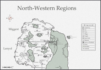 North-Western Regions with scale